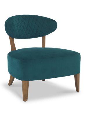 Sheraton Regal Green Velvet Retro Lounge Chair