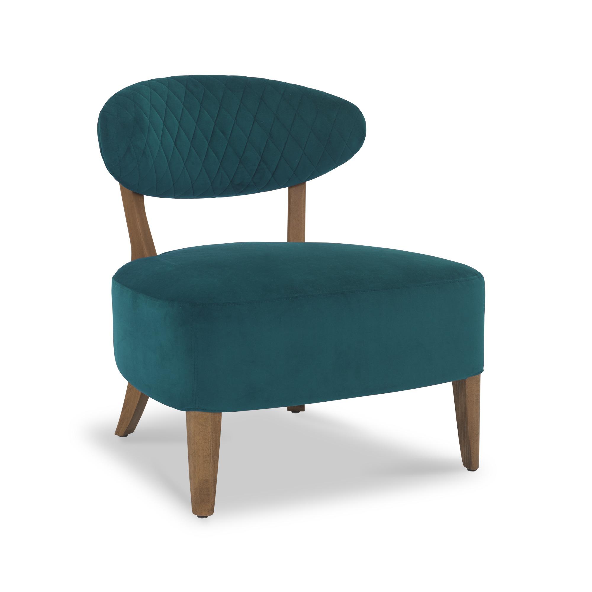Sheraton Regal Green velvet lounge chair