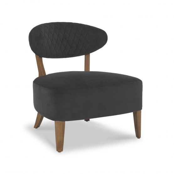 Sheraton Grey Velvet retro lounge chair