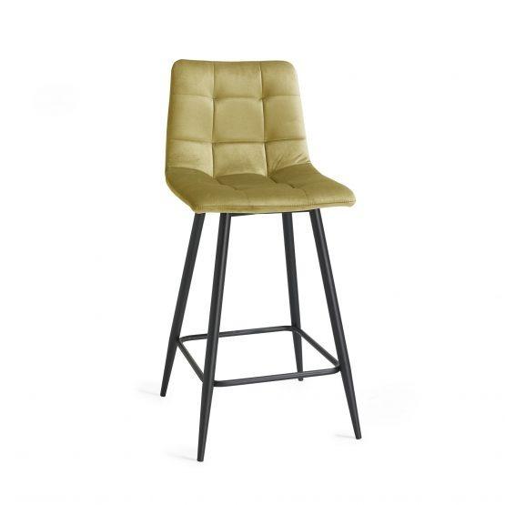Oslo mustard yellow bar stool