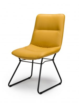 Exeter Mustard Yellow Contemporary Dining Chair