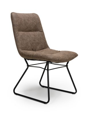 Exeter Wax Tan Leather Contemporary Dining Chair