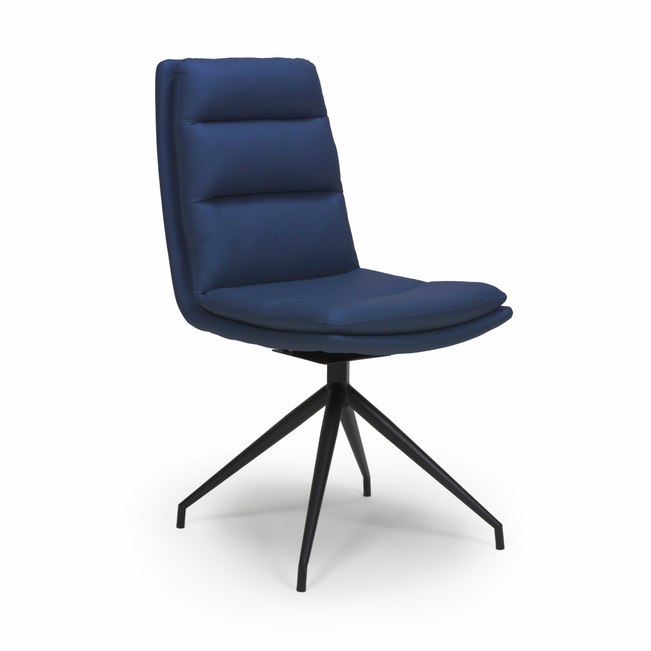 Dallas Blue leather dining chair