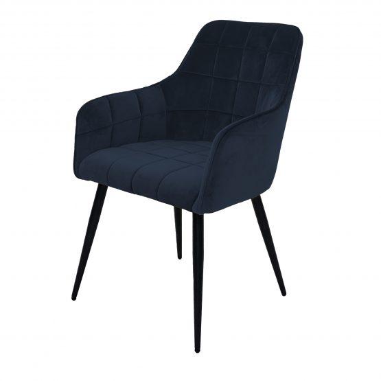 Evie navy blue velvet dining chair